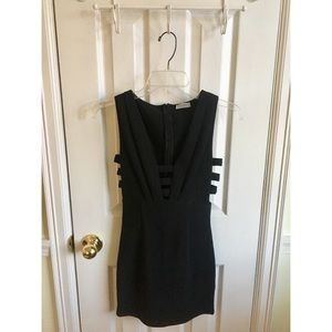 Tobi Caged Black Bodycon Dress XS